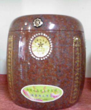 骨灰罐(高級玉石紅花鋼)